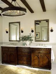 Chandelier Bathroom Lighting Double Drum Chandelier Bathroom Mediterranean With Bathroom