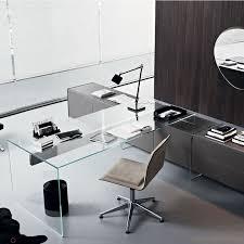 bureau du directeur bureau en verre airdesk1 par gallotti et radice epoxia mobilier