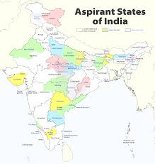 Map Of India With States by Aspirant States Of India 122 Indian States U0026 Territories