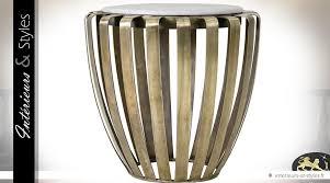 table basse bout de canapé bout de canapé design en laiton doré et marbre blanc intérieurs