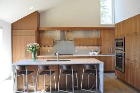 new york walnut cabinets kitchen transitional with single wall