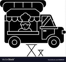 kitchen icon food truck street food mobile kitchen icon vector image