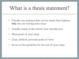 writing a great thesis statement what is a thesis statement