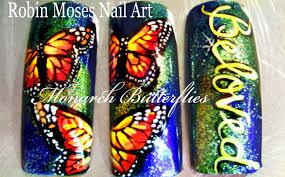 Monarch Design by Diy Monarch Butterfly Nails Diy Butterflies Nail Art Design