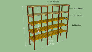 Making Wood Bookshelves by Building Food Storage Plan Building Storage Shelves Projects