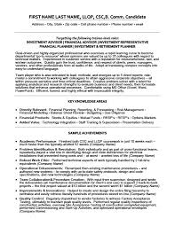 investment advisor resume template premium resume samples u0026 example