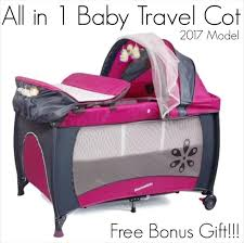 s12 7 rose pink baby u0026 toddler travel cot portable portacot