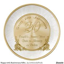 personalized anniversary plates happy 20th anniversary gifts personalized plate 20th anniversary