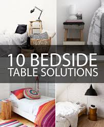 Ideas For Bedside Tables Fresh Idea 12 For Nightstand Alternatives