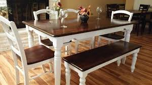 stained table top painted legs rustic farmhouse table brown stained top white painted legs 4