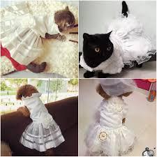 dog wedding dress costume luxury princess cat dog wedding dress cat dress