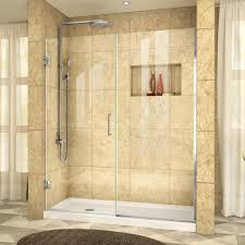 Hinged Glass Shower Door Dreamline Unidoor Plus 45 1 2 To 46 In X 72 In Frameless Pivot