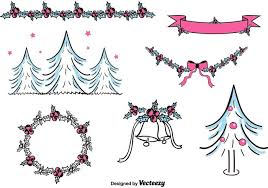free hand drawn christmas decorations download free vector art