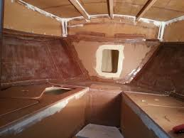 great alaskan 28ft boat build cuddy cabin is almost complete