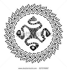 marquesan cross symbol which used polynesian stock vector