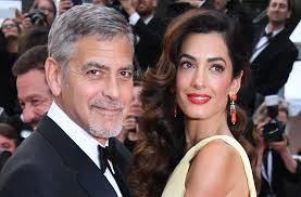 is amal clooney hair one length george and amal clooney show adorable pda on date night in italy