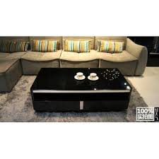 Black Gloss Glass Coffee Table 487b China New Tempered Glass Mdf Coffee Table In Black High