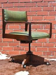 wooden rolling desk chair antique swivel chair vintage bankers chair wooden library chair