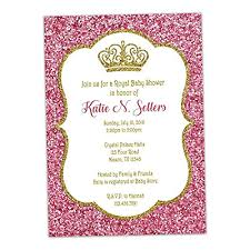 pink and gold baby shower invitations pink gold glitter baby shower invitations princess