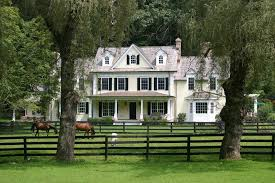 Farm Ideas Exterior Farmhouse With Window Window Post And Rail Fence - bay window front exterior farmhouse with split rail fence resin