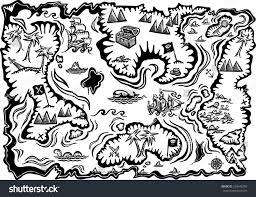 Treasure Map Blank by Hand Drawn Treasure Map Stock Illustration 263646296 Shutterstock