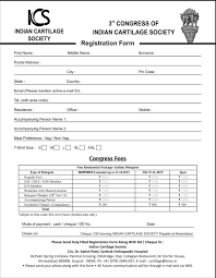 registration form indian cartilage society template word 3r vawebs