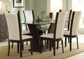 Round Glass Dining Table Wood Base Dining Tables Glass Dining Room Sets Glass Kitchen Table Top