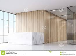 wooden office reception desk stock illustration image 73784468