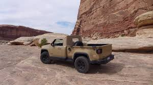 concept jeep truck wranglers and renegades driving the 2016 easter jeep safari