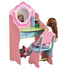 Wooden Girls Vanity Childrens Dressing Table Chair Wooden Vanity Desk Fairy Bedroom