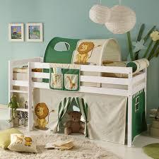 dschungel kinderzimmer vorhang bettvorhang stoff safari dschungel für hochbett spielbett