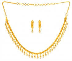 light weight gold necklace designs 22 kt gold light and attractive necklace sets 22karat indian
