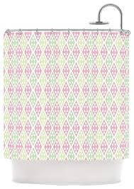 Pink Green Shower Curtain Shining Design Pink And Green Shower Curtain Julie Hamilton Woven