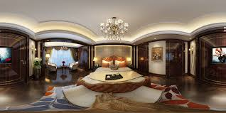 neoclassical design panorama 360 neoclassical style family bedroom space 01 3d model max