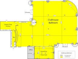clubhouse floor plans venue spaces at club auto sport san jose ca the best event