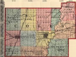 Illinois Counties Map by Coles County Illinois Maps And Gazetteers