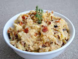 steaknpotatoeskindagurl mashed potatoes with bacon and