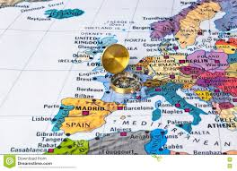Map Of Usa And Europe by Compass On Map Usa Stock Photo 61713565 Shutterstock Usa Map