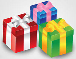 gift wrapped boxes create a gift wrapped box icon in illustrator photoshop