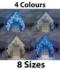 Outdoor Icicle Lights Snowtime Outdoor Led Multi Function Icicle Lights In