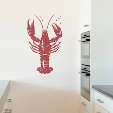 lobster wall decal