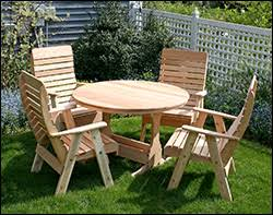 Cedar Patio Table Cedar Outdoor Furniture Cedar Patio Furniture Sets Cedar