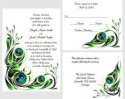 peacock invitations peacock invitations etsy