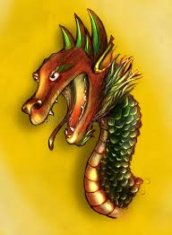 chinese dragon sketch colored stock illustration image 44726080