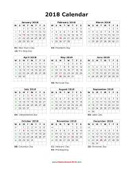 2018 calendar canada monthly calendar template