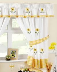 Sunflower Valance Curtains Sunflower Kitchen Decor Catalog And White Gingham Curtains