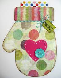 Birthday Card Holder Snippets By Mendi A Winter Mitten Birthday Card