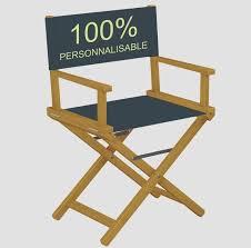 chaise personnalis e chaise de réalisateur en bois mobilier personnalisé pour la publicité