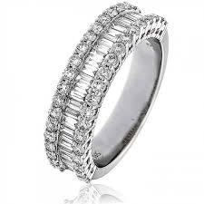white gold eternity ring baguette half eternity ring 1 50ct 18k white gold