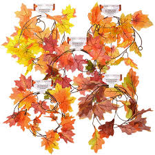 fall garland bulk floral garden fall leaves and vine garland 5 ft strands at